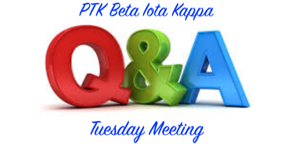 Q & A, HIA, College Project, Make-Up Orientation Meeting