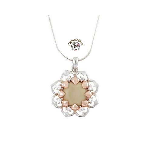 Divine Lotus CremainGem Pendant