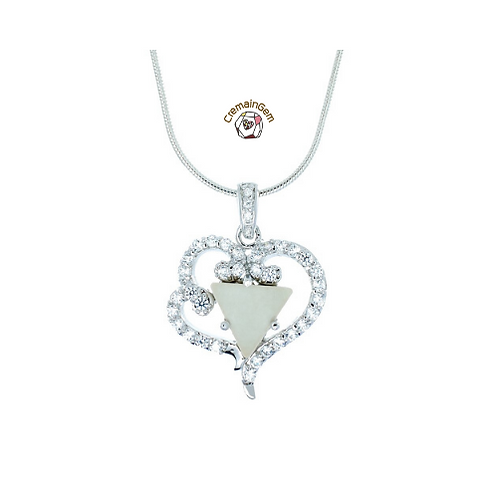 Loving Heart CremainGem Pendant