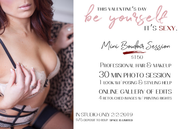 Mini Boudoir Sessions are back!