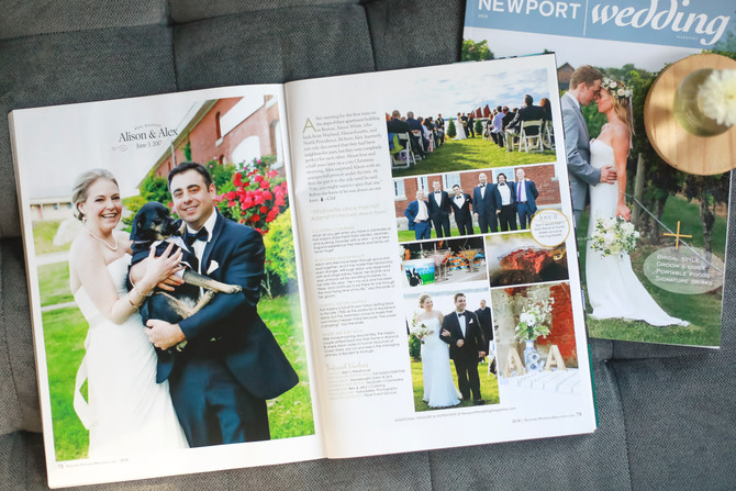 Alison + Alex: Newport Wedding Magazine