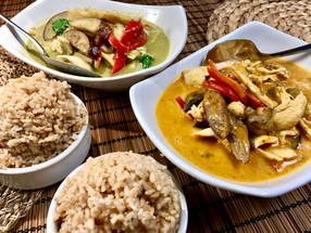 Green and Panang Curry