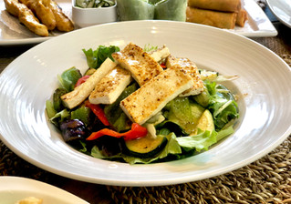 Fresh Tofu and Grilled Veggie Salad