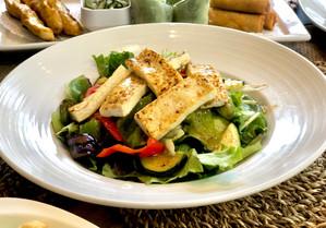 Fresh Tofu and Grilled Veggie Salad