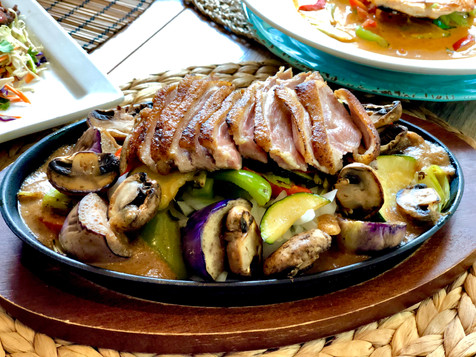 Duck with Black Pepper Sauce