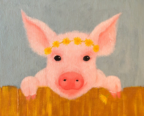 Paisley the piglet 8 x 10 Print