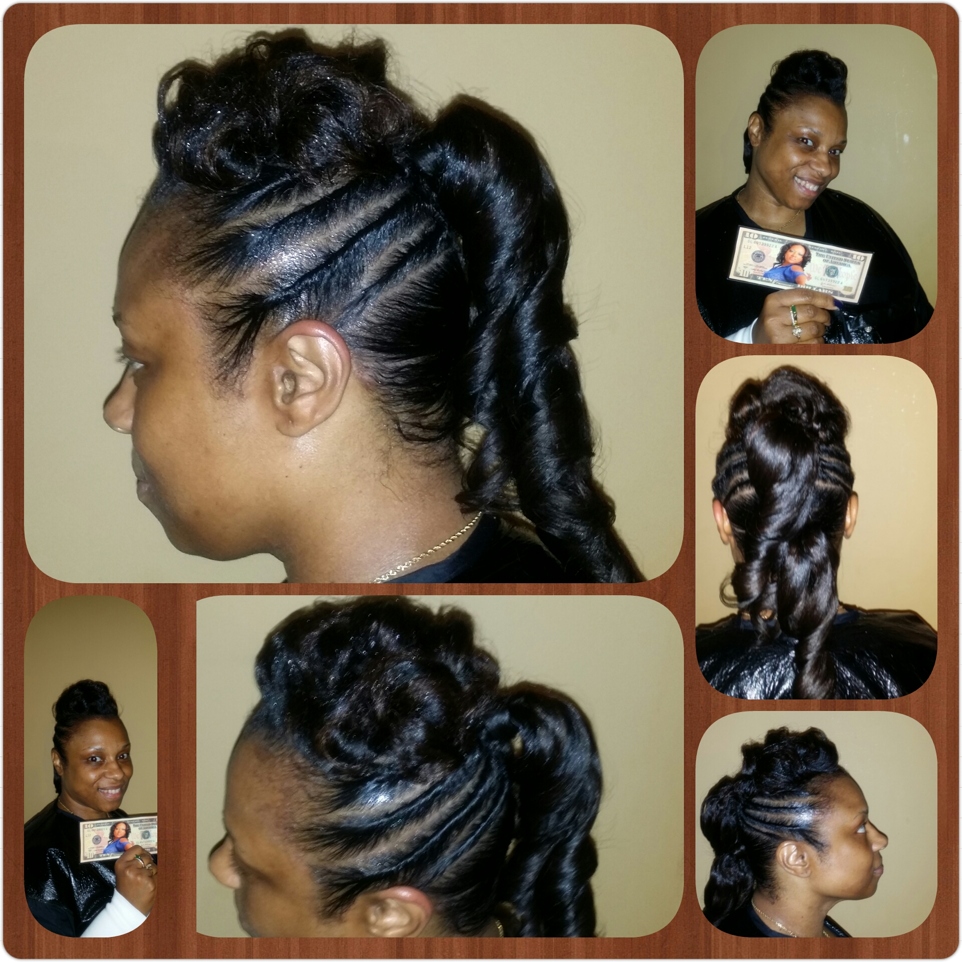 UpDo/Relaxed hair