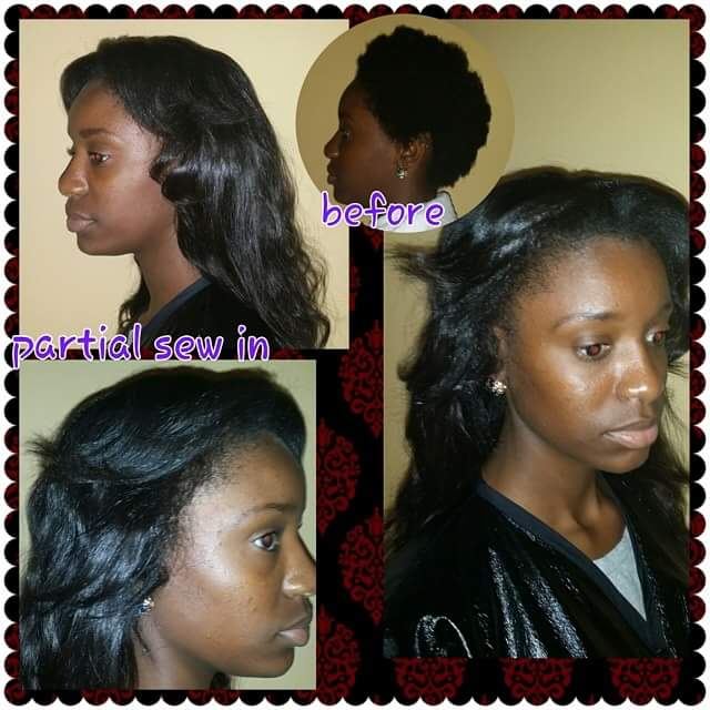 PARTIAL SEW IN (process)