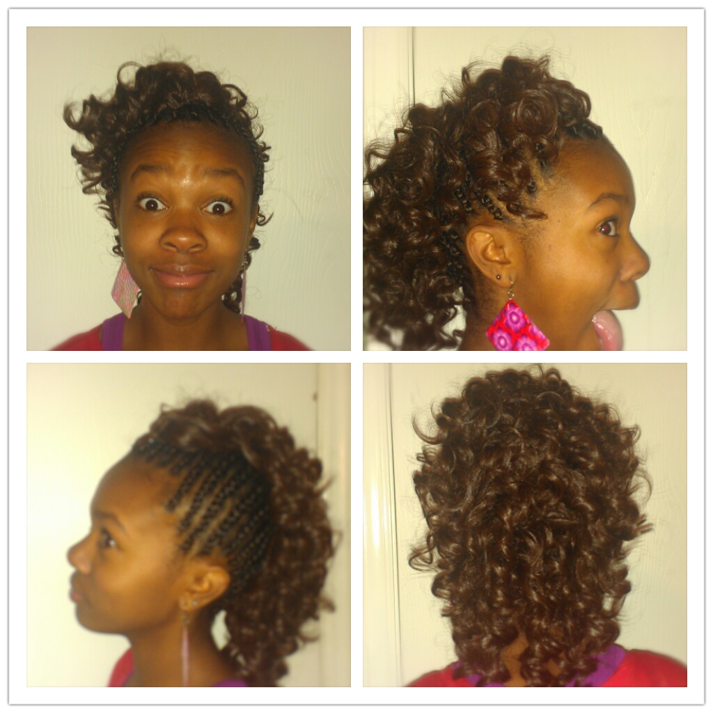 Braided Mohawk, Middle sew In