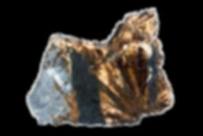 Close-up big rough stone of natural astr