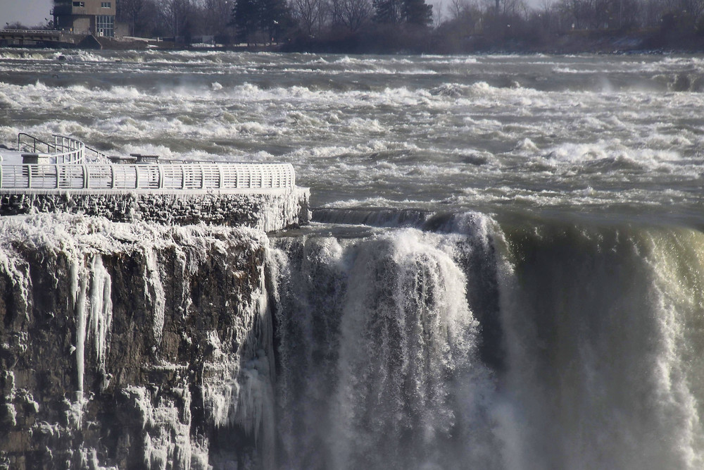 Ice on The Falls