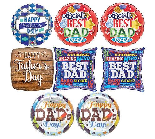 Foil Father's Day Mylar (1Mylar)