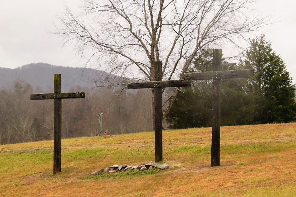 Three Crosses in the Am Fog