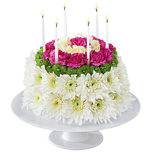 Birthday Flower Cake (BFS46)