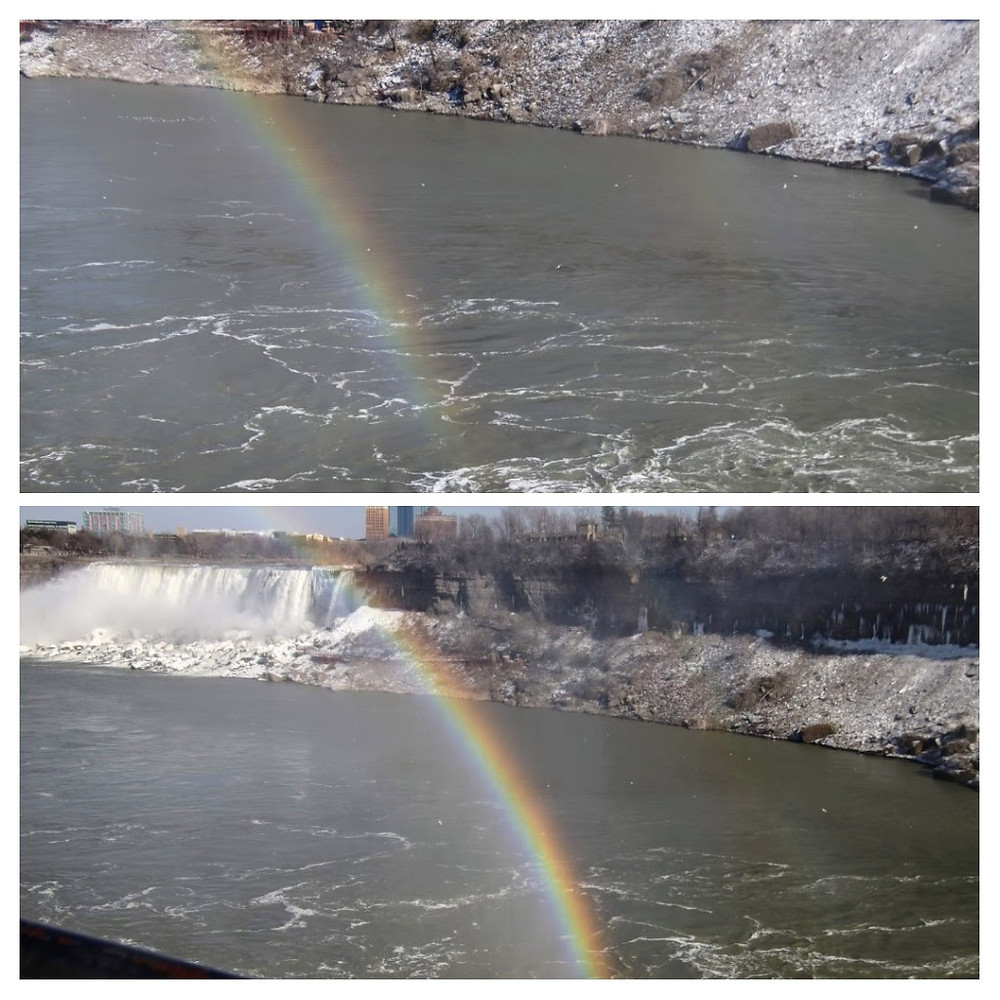 Double Rainbows Within The Falls