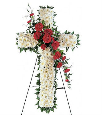 "Floral Cross Standing Spray 30"" (SBFS41)"