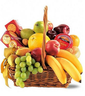 Deluxe Fruit/Cheese/Cracker/Basket (GBFS26)
