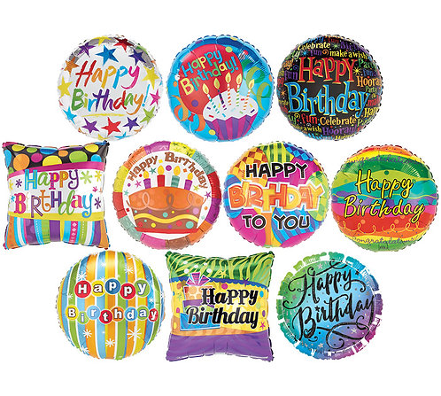 Happy Birthday Mylar (1 Balloon)