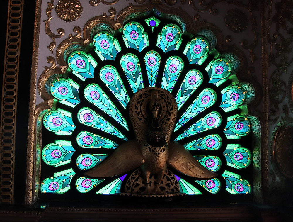 A Peacock of Glass and Gold