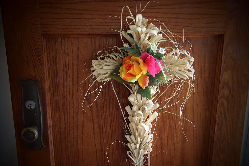 Palm Cross Adorns My Door