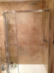 a bathroom shower enclosure fitted by Heatwave heating and plumbing