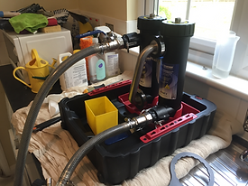 MagnaCleanse system in use by Heatwave plumbing and heating