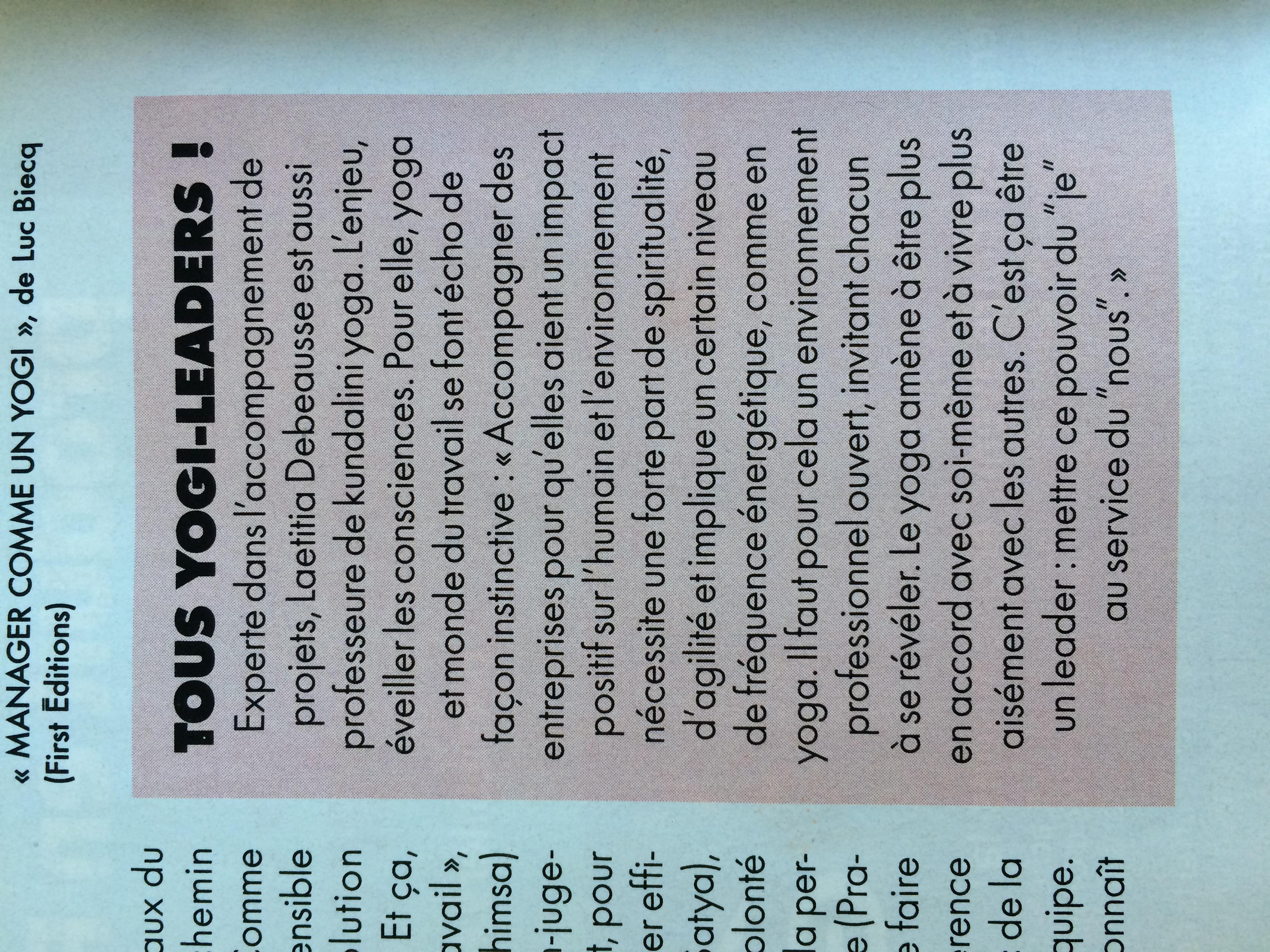 Article du magazine Elle sur Laetitia Debeausse