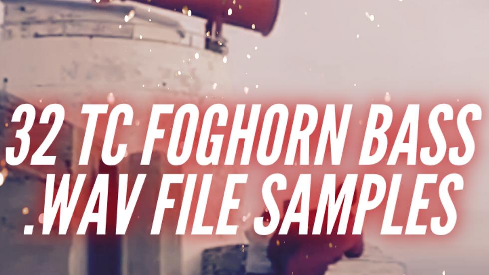 32 TC Foghorn Bass .WAV Samples in F