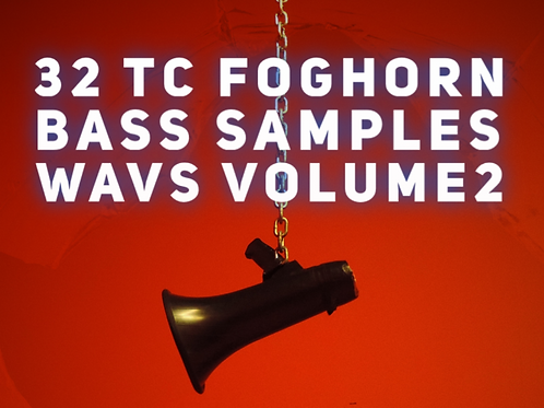 32 TC Foghorn Bass Samples in WAV format Volume2 in F