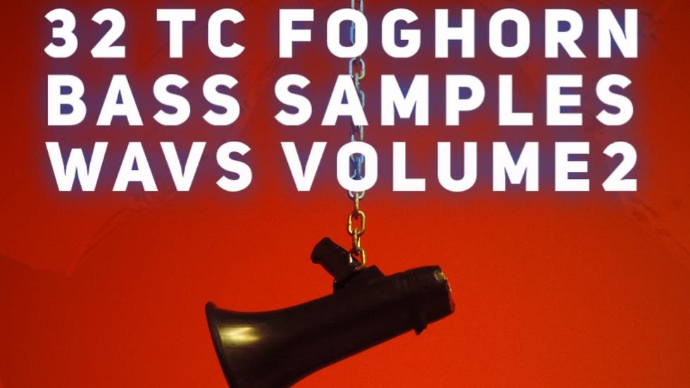 32 TC Foghorn Bass Samples in WAV format Volume2 in F