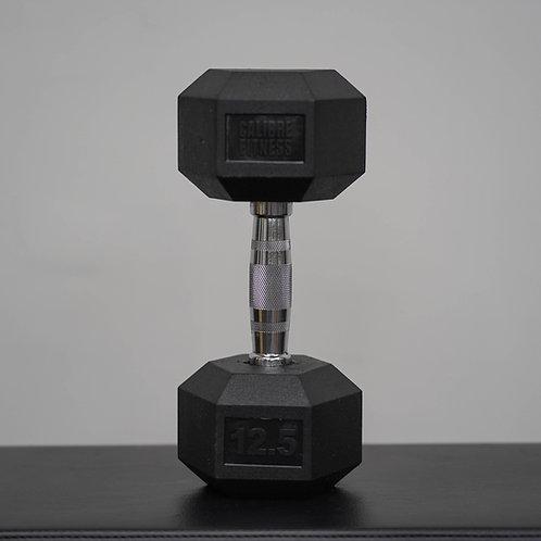 Hex rubber dumbbell 12.5 kg (1ชิ้น)