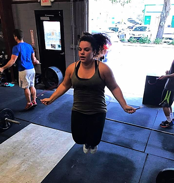 Kayla doing Double Unders