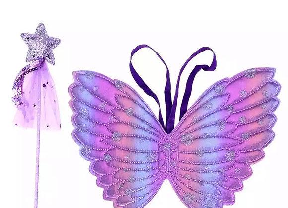 Fairy wand & wings PURPLE