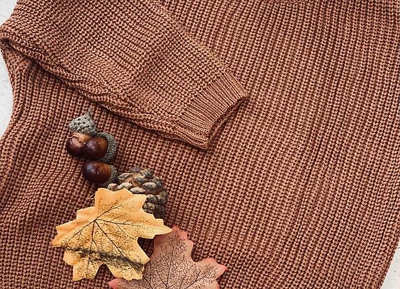 Chunky knit CHESTNUT