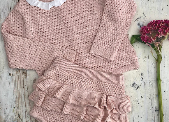 Blush-a-bye baby knitted set