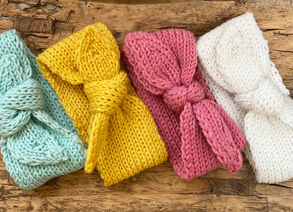 Knitted headbands (6 colours)