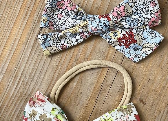 Ditsy bow headband (sold separately)