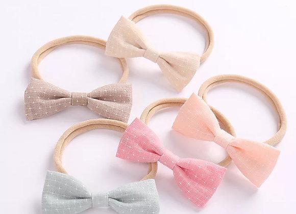Linen headbands (set of 5)