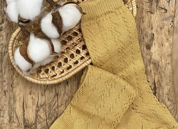 Knee high open knit sock