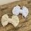 Thumbnail: Rustic bow headbands (stretchy)