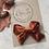 Thumbnail: Chestnut velvet bow clip
