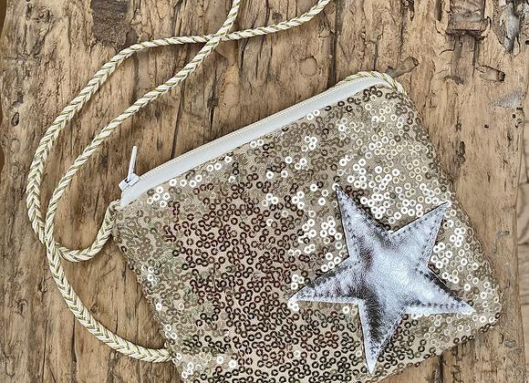 Star sequin bag (black or gold)