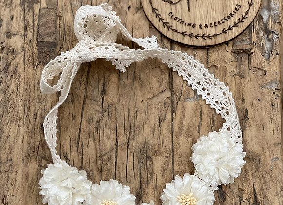 Lace flower band