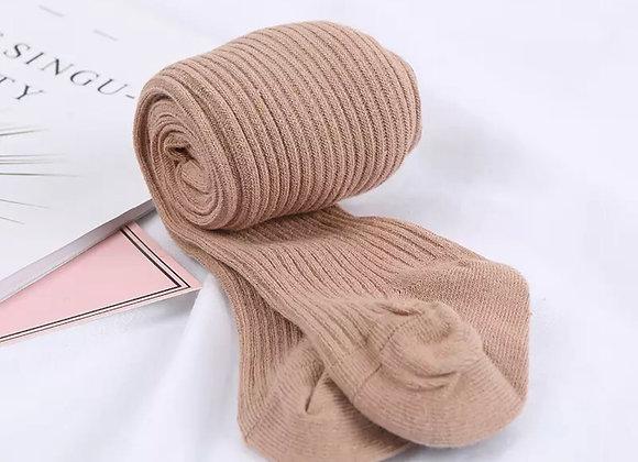 Ribbed tights (mocha or milk)