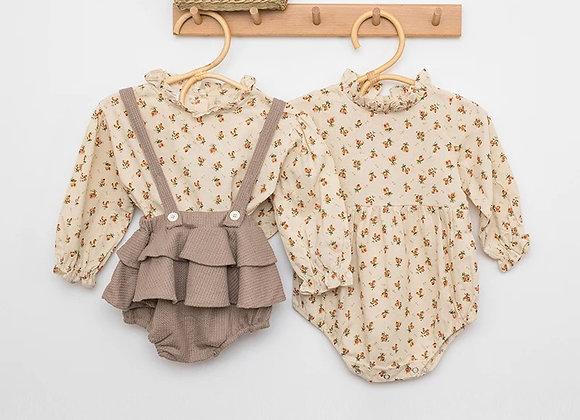 Betsy romper and braced bloomers set