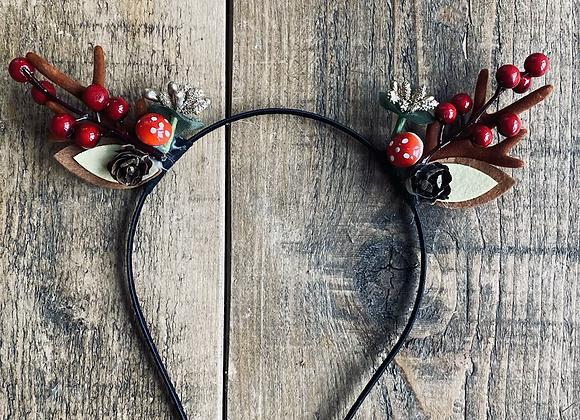 Rustic reindeer headband