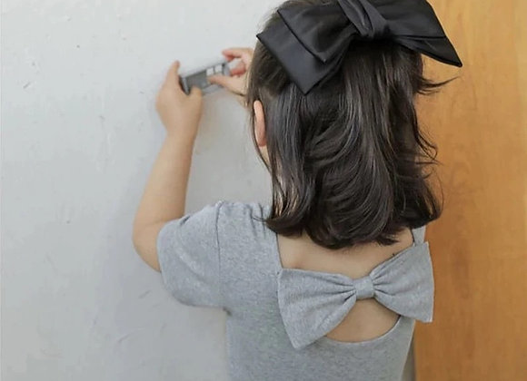 Bow knot T-shirt (pink/grey)