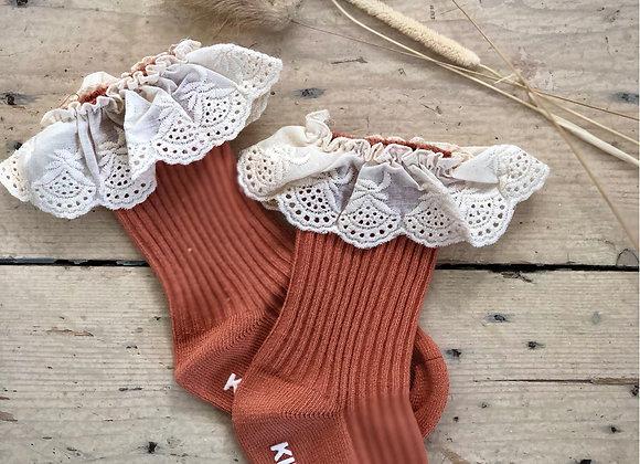 Cotton lace socks