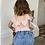Thumbnail: Bow knot bodysuit (pink/white)