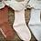 Thumbnail: Cotton lace socks PEACH